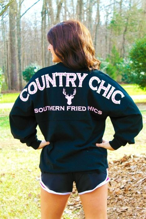 Country Chic Spirit Jersey - Black (RUNS BIG)