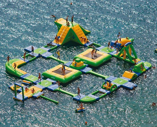 New Mobile Water Park Lets You Inflate Your Own AdventureLakes House, Obstacle Course, Dreams, Water Fun, Awesome, Summer Fun, Water Parks, Summerfun, Playgrounds