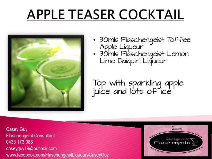APPLE TEASER COCKTAIL Flaschengeist Toffee Apple Liqueur and Flaschengeist Lemon Lime Daiquiri Liqueur