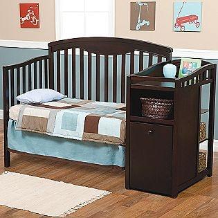 I like this crib/ changing table combo