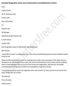 Https://i.pinimg.com/736x/18/b5/8c/18b58c54b600590...  Example Of Resignation Letter