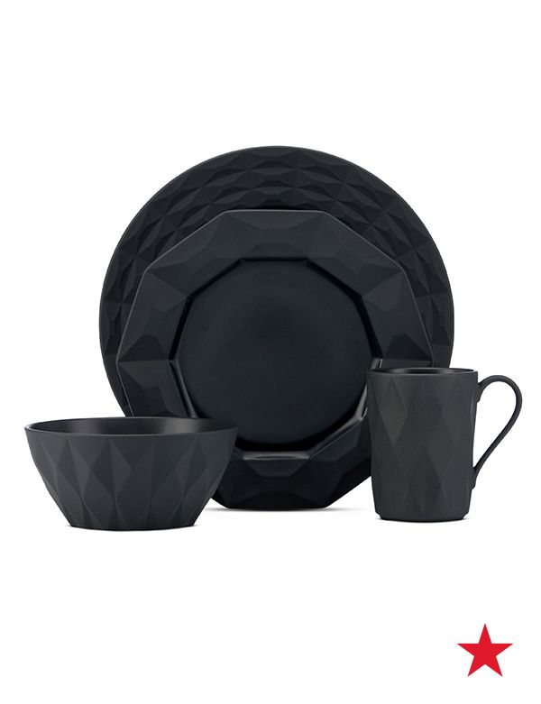 Bring a little darkness to the dinner table with gorgeous all-black place settings from kate spade new york