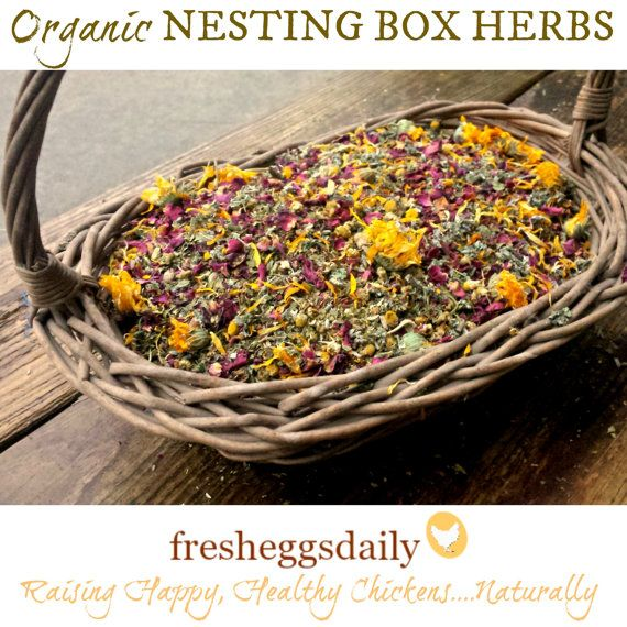 Trio of Chicken Nesting Box Dried Herbal by FreshEggsDaily on Etsy