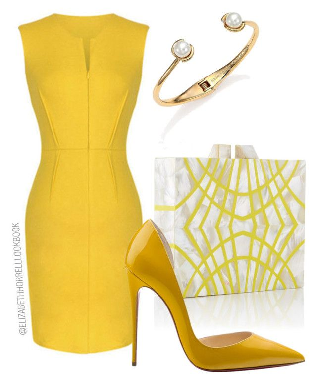 LIZ by elizabethhorrell on Polyvore featuring Kate Spade and Christian Louboutin