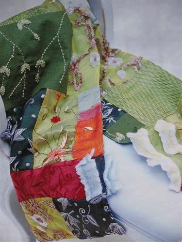 Hoe patchwork sjaal maken van restjes soepele stof