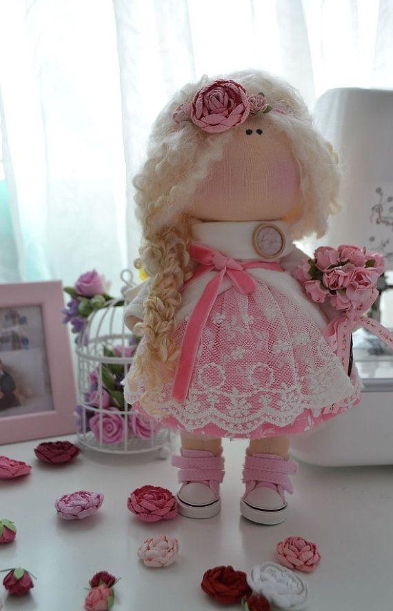 Interior doll Handmade doll Love doll Tilda by AnnKirillartPlace