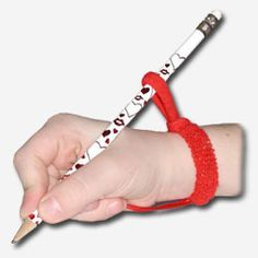 Helps create the perfect pencil position and finger grip.  Just got one for Henry and I can't believe the difference!