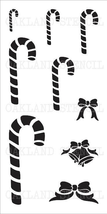 bastones de caramelo y arcos navidad plantilla por