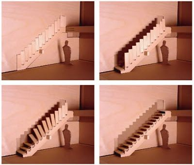 Unique staircase with a cool design