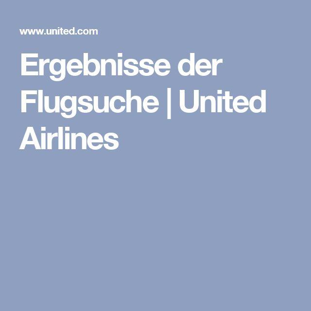 Ergebnisse der Flugsuche   United Airlines