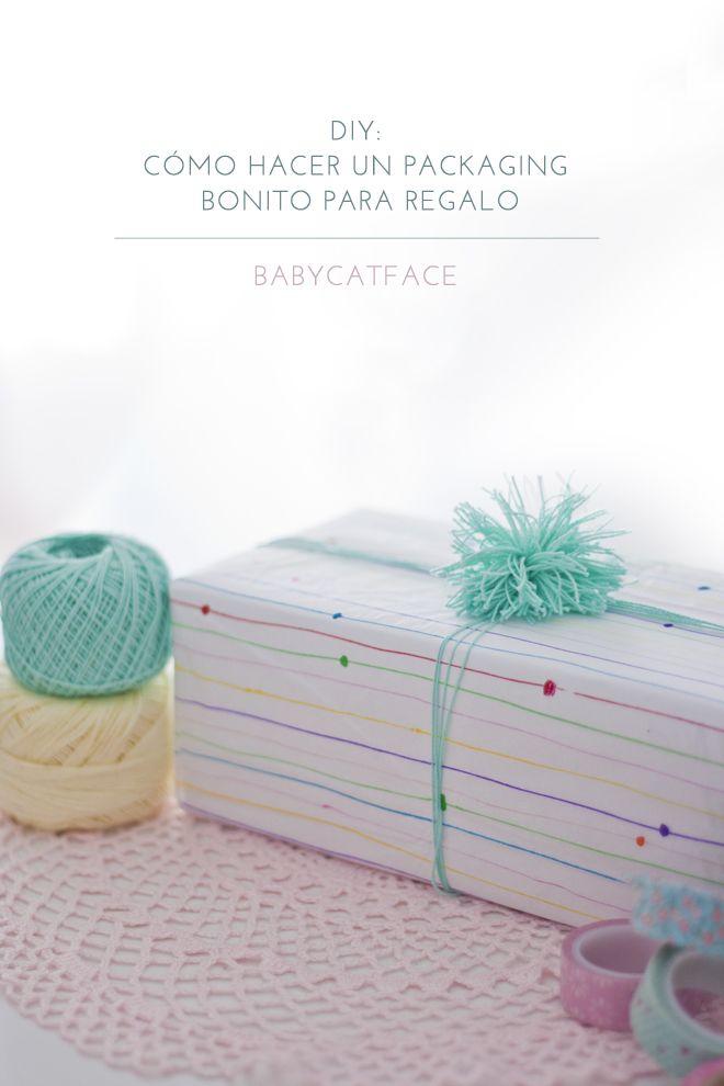 BabyCatFace: DIY: CÓMO HACER UN PACKAGING BONITO PARA REGALO. pintando con rotuladores