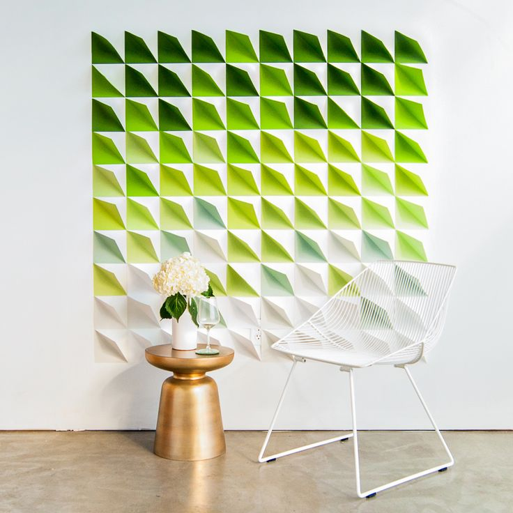 For your next party, a wedding, or just to make any wall pop, create an intriguing 3D paper backdrop with this tutorial from Ruffled. Completely customizable to any size and color, this project is quick yet beautiful.