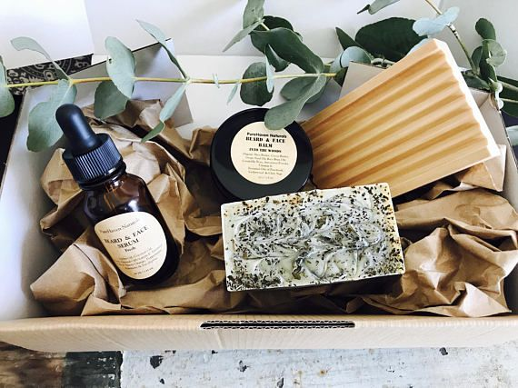 Mens Skincare Gift Set. Beard Face Oil  Beard Balm. Natural