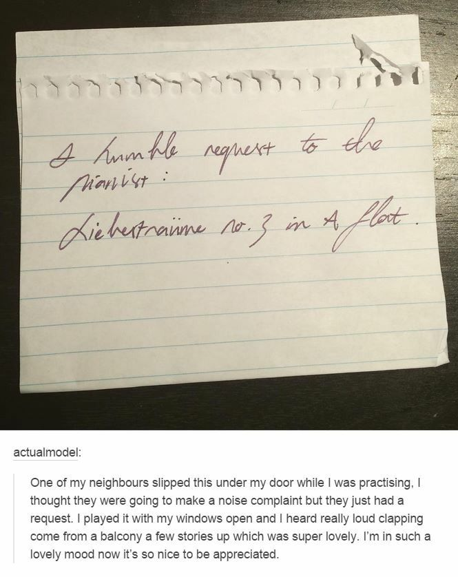 Neighborly notes aren't always negative!