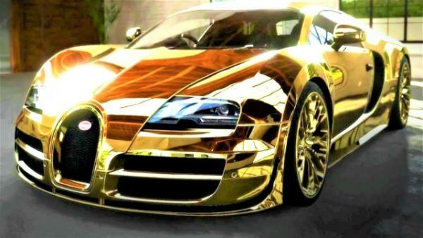 Bugatti 2020 Gold Expensive Sports Cars Expensive Cars Most Expensive Car