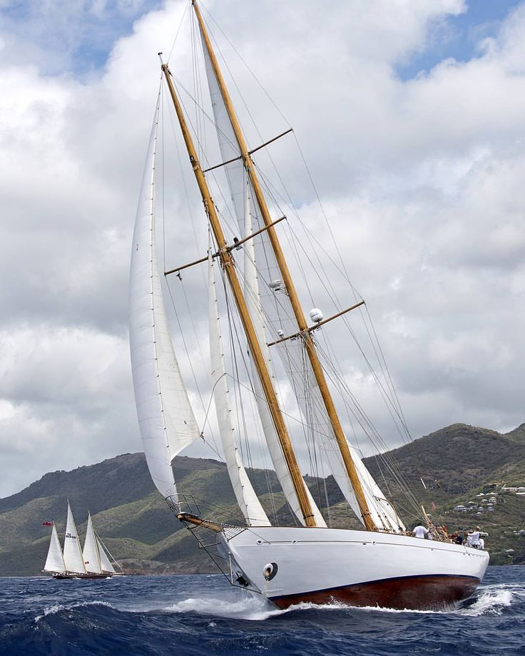 """Cover Girl - The Beautiful 1939 - 115 Foot Staysail Schooner Eros Looking Perfect"