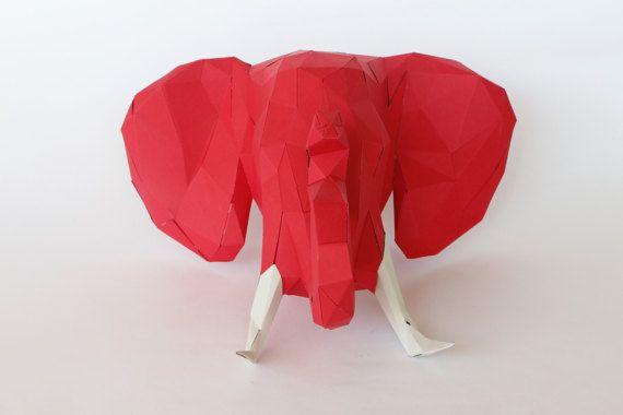 Beautiful Elephant 3D papercraft sculpture template. It tooks around 5-6 hours to finish him. For me is like meditating :) I hope you enjoy making him as much as I do. You will get a digital instant download PDF with all the instructions and pieces you need to make him real. He will look great decorating a shelve or auxiliar table at your home. You will need cardstock paper between 180 g - 220 g, scissors or craft knife, ruler, paper glue or liquid silicone. Size: 25 x 35 x 27 cm  Don´t…