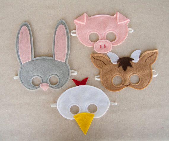 Farm Animal Mask Set