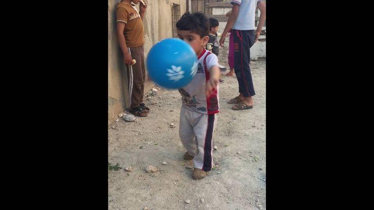 İftardan önce çocuklar ile top oynama