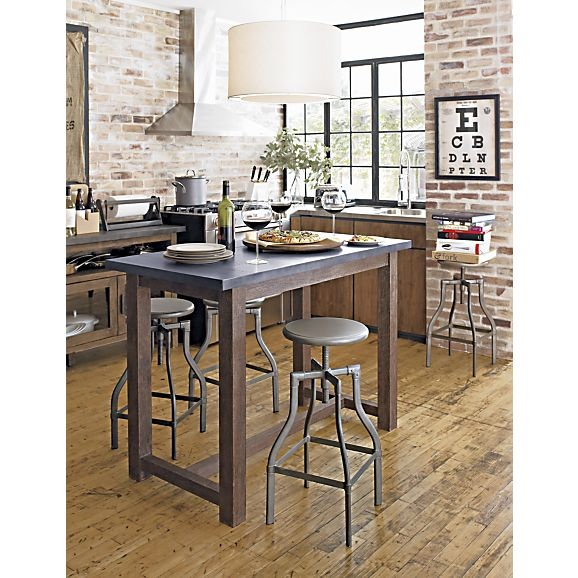 Modern Kitchen Bar Stools Kitchen Islands With Table: Turner Gunmetal Adjustable Backless Bar Stools And Linen