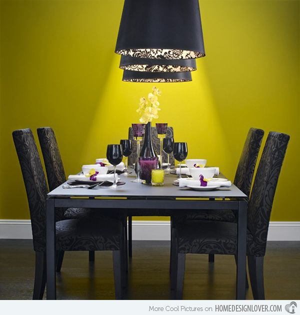 17 Bright And Pretty Yellow Dining Room Designs RoomColorful