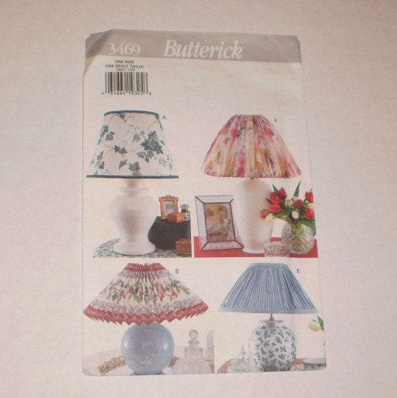 Vintage Lampshade How To Instructions, Butterick Pattern #3469, Instruction Sheet For Minimal Sewing To No Sew,  Lampshade Covers by TheShoppingMoll on Etsy