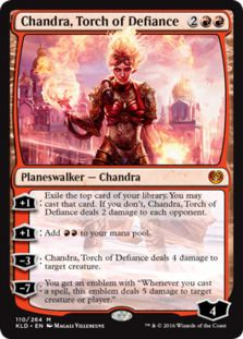 Chandra Torch of Defiance card price from Kaladesh (KLD) for Magic: the Gathering (MTG) and Magic Online (MTGO).