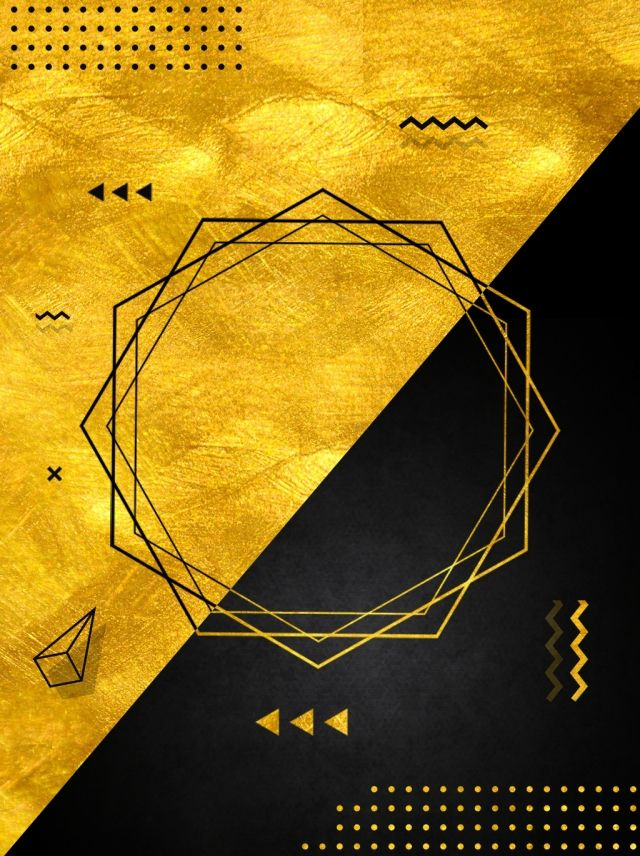 Black gold wind creative border geometric poster background design