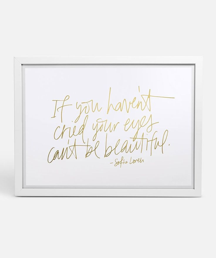 Sophia Loren knew what was up. This beautiful quote captured in gold foil with bring your home to life. | huntingforgeorge.com