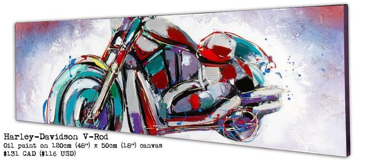 Cheap Motorcycle Paintings