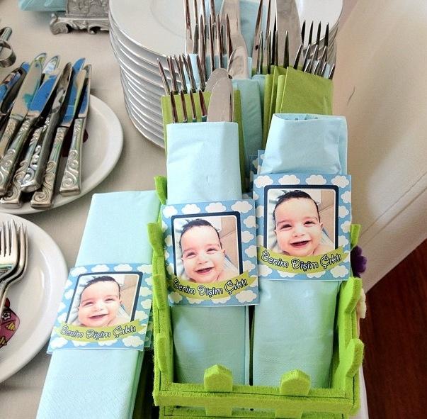 Baby babyboy party favors teeth first teeth blue gift bebek parti hediye ilk diş buğdayı mavi hediyelik peçete tissue peçetelik kişiye özel tasarım personal