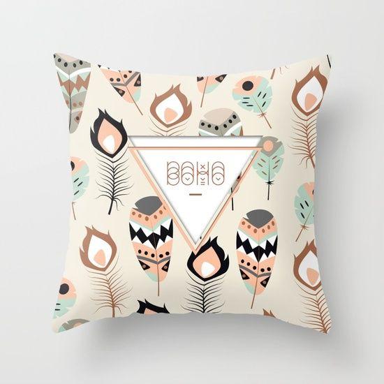 #deco #ethnic #boho #plume #home #pillow #coussin