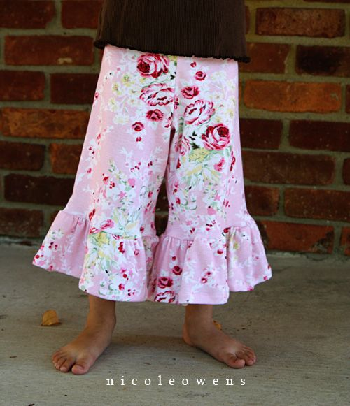 Tutorial to make boutique ruffle pants.