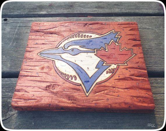 Woodburned Baseball/Football/Hockey/Sports Team Logo with Colours (MLB Toronto…