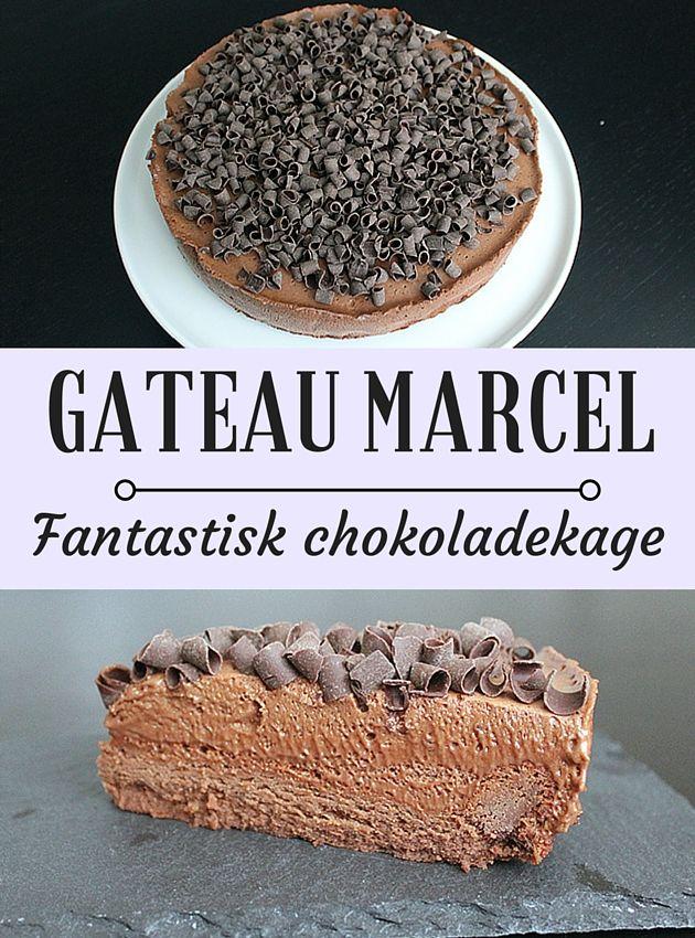 Fuldstændig forrygende chokoladekage med en silkeblød chokolademousse på toppen, og så er den tilmed virkelig simpel at gå til.