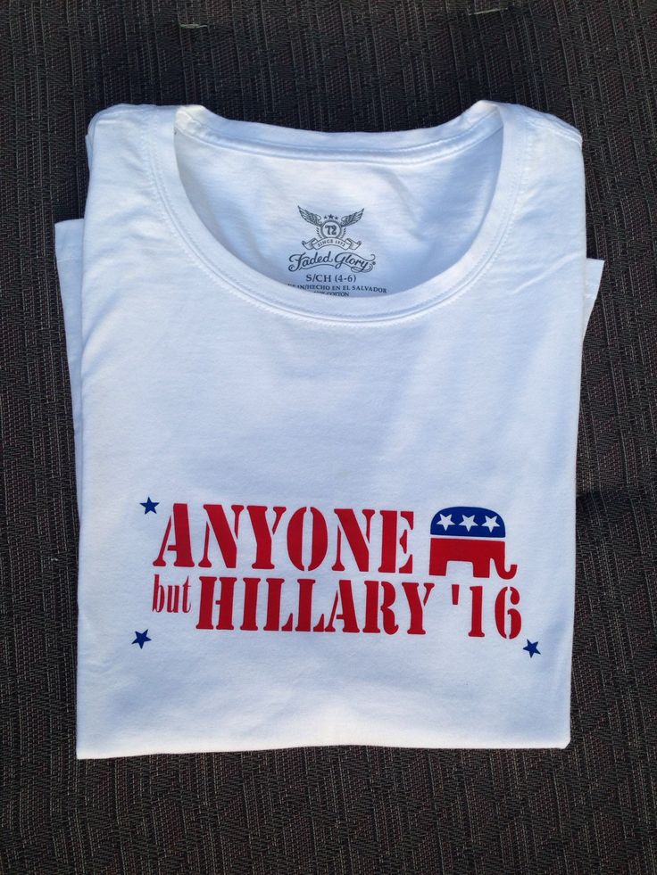 "Republican ""Anyone But Hillary"" T-shirt - GOP Party"
