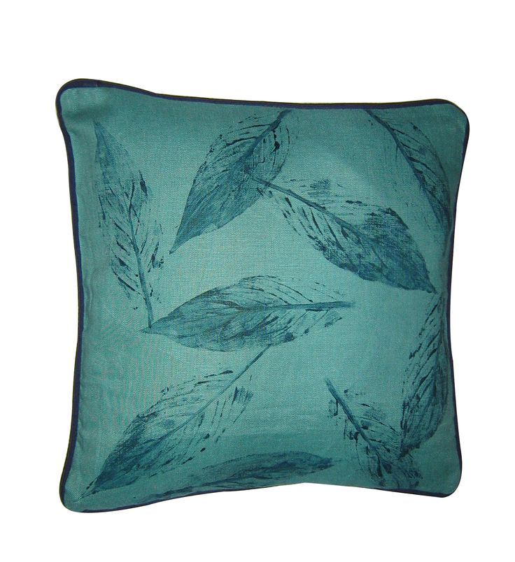 I handpainted this linen cushion using leafs from my garden....so much fun & of course I used eco friendly dyes. Check it out on our site www.shakiraaz.com.au