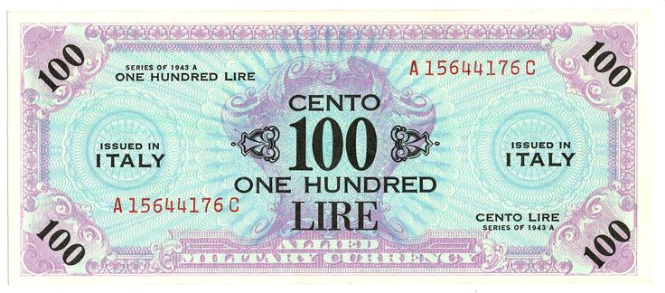 100 LIRE - serie 1943 A - #scripomarket #scripobanknotes #scripofilia #scripophily #finanza #finance #collezionismo #collectibles #arte #art #scripoart #scripoarte #borsa #stock #azioni #bonds #obbligazioni