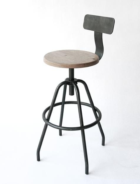 great breakfast bar stool - original pin note: Studio Work Stool from Makr Carry Goods,