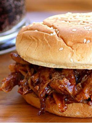 Root Beer Pulled Pork Sandwiches Crock Pot Recipe - This was amazing!  I used pork stew meat and did a pound and it was brilliant!
