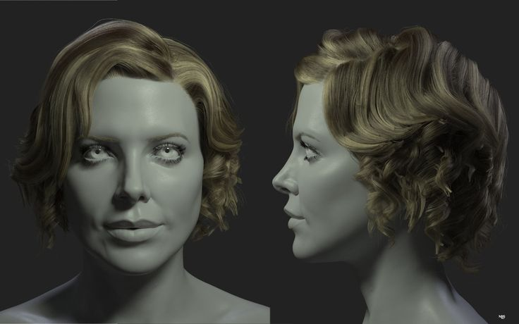 ArtStation - Charlize Theron wip, Nacho Lapuente