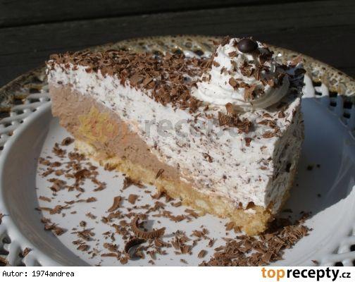 Nepečený Stracciatella dort