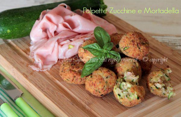 Polpette zucchine e mortadella fritte o al forno