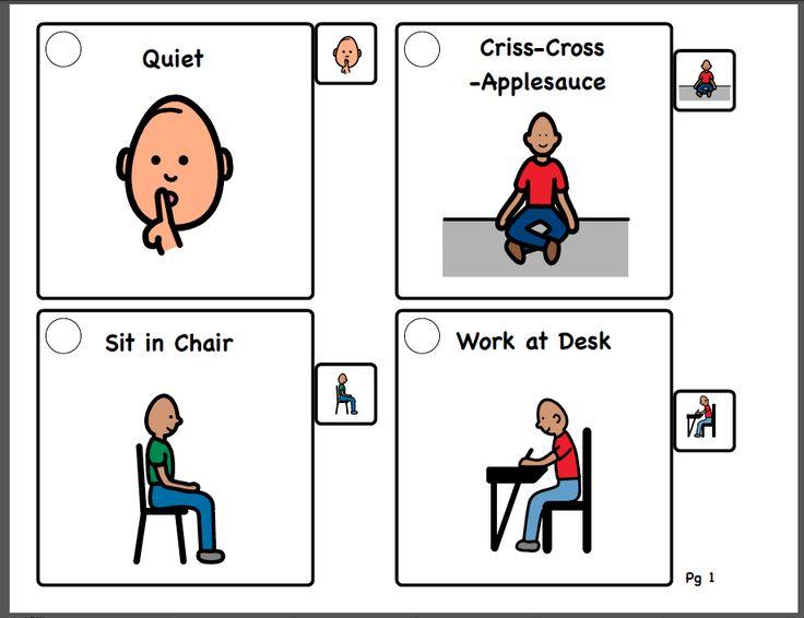 Autism Visual Cue Cards