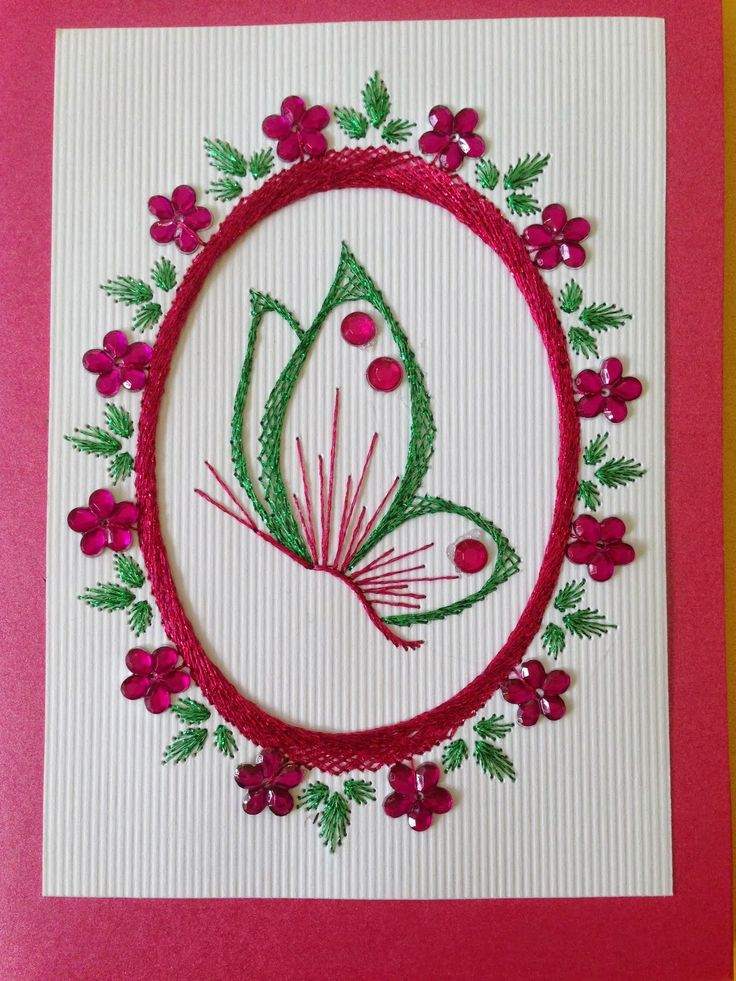 Best embroidery on paper images pinterest string
