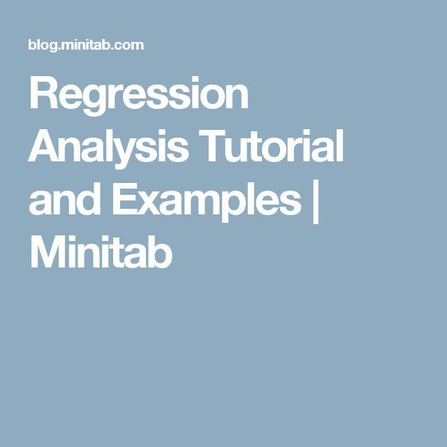 Regression Analysis Tutorial and Examples | Minitab