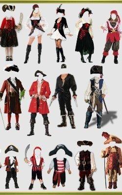 Детские костюмы пиратов для фотошоп