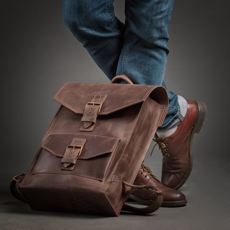 Holla Leather Backpack  Brown