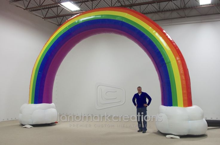 """""""Inflatable rock concert props are a specialty of Landmark Creations. Tribeca Business Management put this rainbow center stage during rapper Kesha's tour to serve as scenery and make a statement."""""""