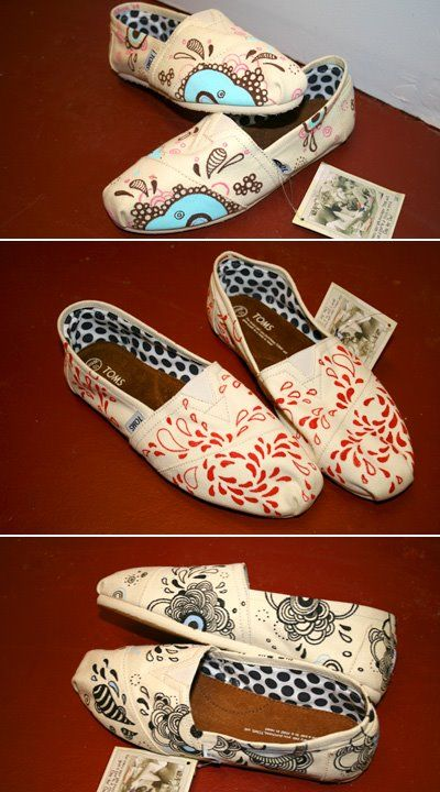 Personalized & Hand-painted Toms omg I'm I'm loooove!!!